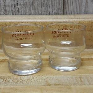 Other - O'REILLYS IRISH CREAM 2 Clear Smaller Glasses